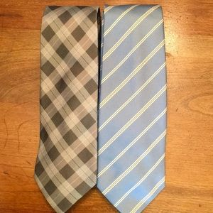 Two Men's Banana Republic Silk Ties